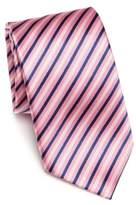Saks Fifth Avenue COLLECTION Herringbone Textured Striped Silk Tie