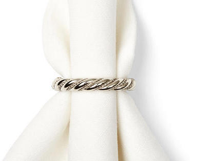 Rennie & Rose Design Group S/4 Silver Swirl Napkin Rings