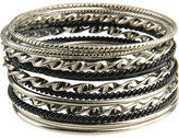 Lacquered & Polished Bangle Set