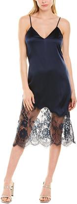 CAMI NYC Selena Silk-Blend Slip Dress