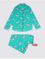 Marks and Spencer Cotton Unicorn Print Pyjamas (1-16 Years)