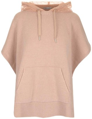 RED Valentino Hooded Tulle Detail Top