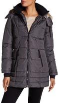 Nautica Long Sleeve Faux Fur Coat