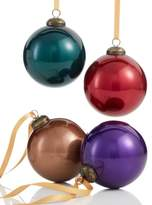 Holiday Lane Set of 5 Glass Glitter Ball Ornaments, Created for Macy's