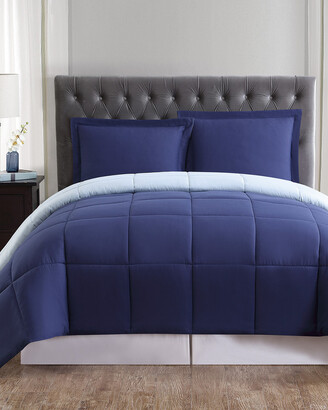 Truly Soft Everyday Navy & Light Blue Reversible Comforter Set
