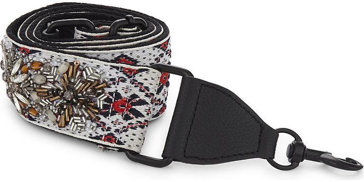 Rebecca Minkoff Jewelled jacquard guitar bag strap