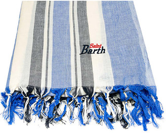 MC2 Saint Barth Bluette And Blue Striped Ultalight Cotton Towel