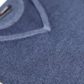 Romeo Merino - Merino Wool Pigment-Dyed Sport V-Neck Nightshade