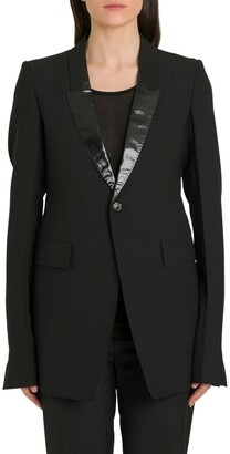 Rick Owens Contrast Collar Blazer