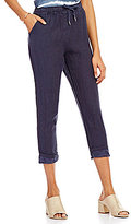 M Made in Italy Drawstring Cropped Pants