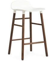 Normann Copenhagen Form Barstool H65cm White/Walnut