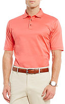 Hart Schaffner Marx Solid Textured Jacquard Short-Sleeve Polo Shirt