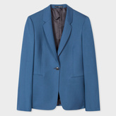 Paul Smith A Suit To Travel In - Women's Petrol Blue One-Button Wool Blazer