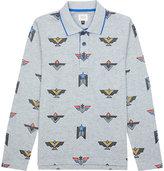 Armani Junior Geo cotton-jersey polo shirt