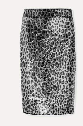 MICHAEL Michael Kors Sequined Chiffon Skirt - Metallic