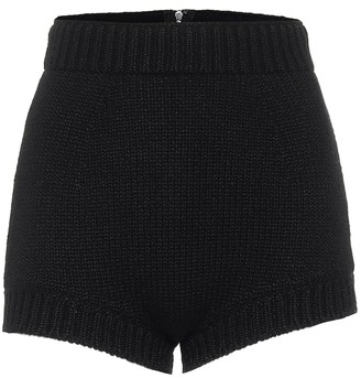 Dolce & Gabbana High-rise cashmere shorts