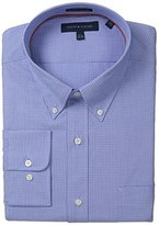 Tommy Hilfiger Men's Regular Fit Nin Iron Mini Tattersall Shirt