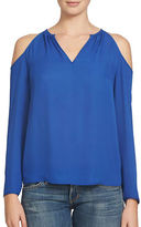 1 STATE Split Neck Cold Shoulder Blouse