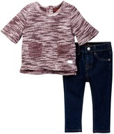 7 For All Mankind Top & Jean 2-Piece Set (Baby Girls)