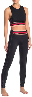 Electric Yoga Ariana Striped Waist Leggings