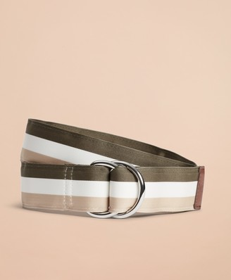 Brooks Brothers Striped Ribbon Belt