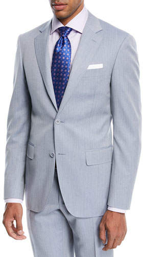 Canali Wool Herringbone Two-Piece Suit