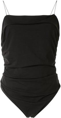 Alexander Wang Ruched Jersey Bodysuit