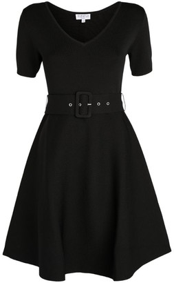 Claudie Pierlot V-Neck Skater Dress