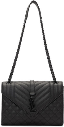 Saint Laurent Black Medium Envelope Bag