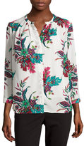 Liz Claiborne Long-Sleeve Button-Front Soft Blouse