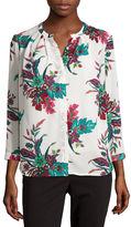 Liz Claiborne Long-Sleeve Button-Front Soft Blouse