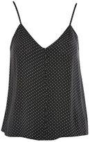 Topshop Pinspot print button camisole top