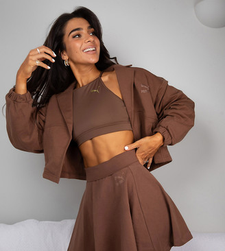 Puma x Stef Fit cropped jacket in pinecone - Exclusive to ASOS