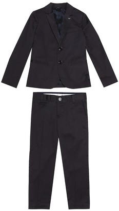 Emporio Armani Kids Stretch-cotton blazer and pants set