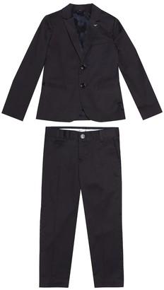 Emporio Armani Kids Stretch-cotton blazer and pants set