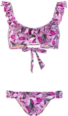 Emmanuela Swimwear Lisa floral print ruffled bikini