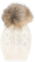 Woolrich Kids pom pom knitted hat