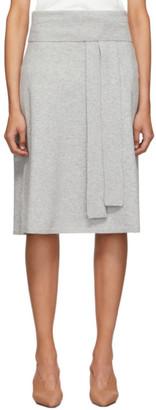 Joseph Grey Cosy Wool Knit Skirt