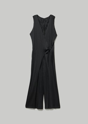 Pleats Please Issey Miyake Women's Wrap Jumpsuit in Black Size 2