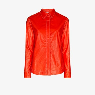 Markoo Faux Leather Shirt