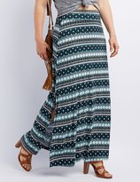 Charlotte Russe Plus Size Side Slit Maxi Skirt