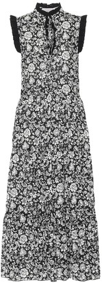 See by Chloe Floral cotton-voile midi dress