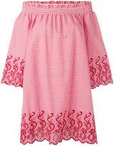 P.A.R.O.S.H. striped off shoulder dress - women - Cotton/Polyamide/Polyester/Spandex/Elastane - S