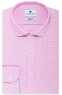 Ryan Seacrest Distinction Men's Ultimate Slim-Fit Non-Iron Performance Stretch Pink Nailhead Dress Shirt, Created for Macy's