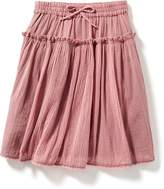 Old Navy Tiered Crochet-Trim Gauze Skirt for Toddler
