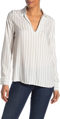 Cotton On Bex Stripe Split Neck Shirt