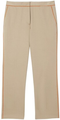 Burberry Contrasting Trim Cropped Trousers