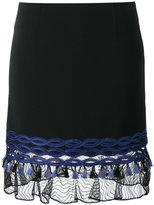 Jonathan Simkhai lace-trimmed mini skirt - women - Viscose/Acetate/Spandex/Elastane/Polyester - 2