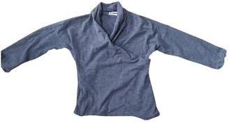 Jil Sander Grey Wool Top for Women