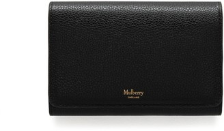 Mulberry Medium Continental French Purse Black Small Classic Grain